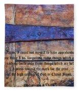 The High Calling Of God In Christ Jesus Fleece Blanket