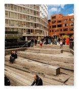 The High Line Urban Park New York Citiy Fleece Blanket