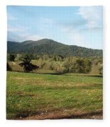 The Hills Near Marriot Ranch Fleece Blanket