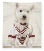 The Hockey Player Fleece Blanket