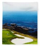The Hole 7 At Pebble Beach Golf Links Fleece Blanket