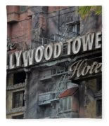 The Hollywood Hotel Signage Fleece Blanket