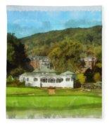 The Homestead Country Club Fleece Blanket