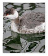 The Horned Grebe Fleece Blanket