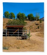 The Horse Ranch 2 Fleece Blanket