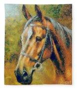 The Horse's Head Fleece Blanket