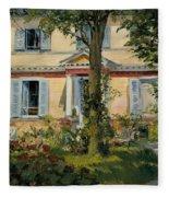 The House At Rueil Fleece Blanket