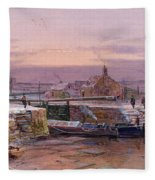The House By The Canal Fleece Blanket