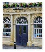 The Huntsman Pub In Bath 8456 Fleece Blanket
