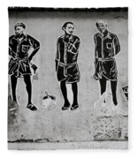 Homage To Banksy Fleece Blanket