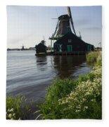 The Iconic Windmills Of  Holland  Fleece Blanket