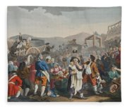 The Idle Prentice Executed At Tyburn Fleece Blanket