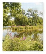 The Indiana Wetlands 2 Fleece Blanket