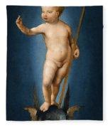 The Infant Christ On The Orb Of The World Fleece Blanket