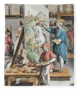 The Invention Of Oil Paint, Plate 15 Fleece Blanket
