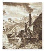 The Iron Forge Between Dolgelli Fleece Blanket