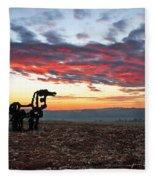 The Iron Horse Early Dawn The Iron Horse Collection Art Fleece Blanket