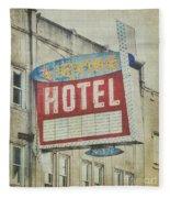 The Irving Hotel In Chicago Fleece Blanket
