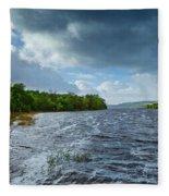 The Isle Of Inishfree...i Will Arise Fleece Blanket