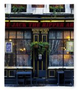 The Jack The Ripper Pub Fleece Blanket
