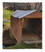 The Jacks Creek Covered Bridge Fleece Blanket