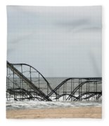 The Jetstar Rollercoaster In Seaside Heights Nj Fleece Blanket