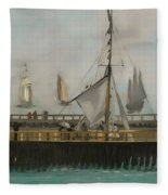 The Jetty Of Boulogne-ser-mer Fleece Blanket