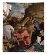 The Journey To Calvary, C.1540 Fleece Blanket
