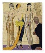 The Judgement Of Paris Fleece Blanket