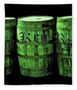 The Keg Room 3 Green Barrels Old English Hunter Green Fleece Blanket