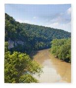 The Kentucky River Fleece Blanket