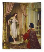 The King And The Beggar-maid Fleece Blanket