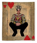 The King Of Hearts Fleece Blanket