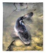 The King Of The Pond Fleece Blanket