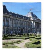The King's Palace In Brussels Fleece Blanket