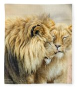 The Kiss Fleece Blanket