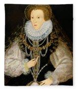 The Kitchener Portrait Of Queen Fleece Blanket