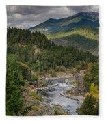 The Klamath Runs Through It Fleece Blanket