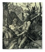 The Knight, Death And The Devil Fleece Blanket