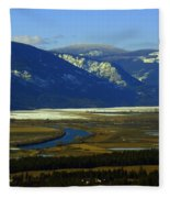 The Kootanie River In Bonners Ferry Idaho Fleece Blanket