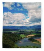 The Kootenai River Fleece Blanket