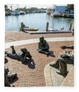 The Kunta Kinte-alex Haley Memorial In Annapolis Fleece Blanket