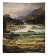 The Labro Falls At Kongsberg Fleece Blanket