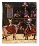 The Lady And The Knight Fleece Blanket
