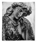 The Lady In Mourning 03 Bw Fleece Blanket