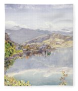 The Lake Of Lucerne, Mount Pilatus Fleece Blanket