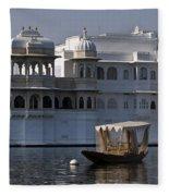 The Lake Palace, India Fleece Blanket