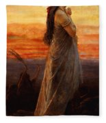 The Lament Of Jephthahs Daughter Fleece Blanket