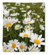 The Land Of White Daisies Fleece Blanket