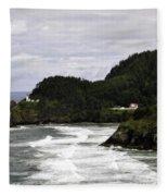 The Landscape Of Heceta Fleece Blanket